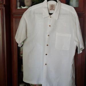 The original Panama Jack White Hawaiian shirt